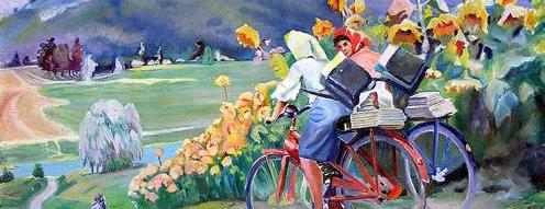Неизвестный художник Почтальонки