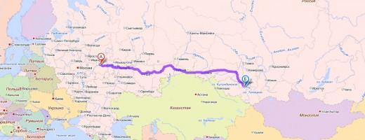 Путь Бийск - Нижний Новгород